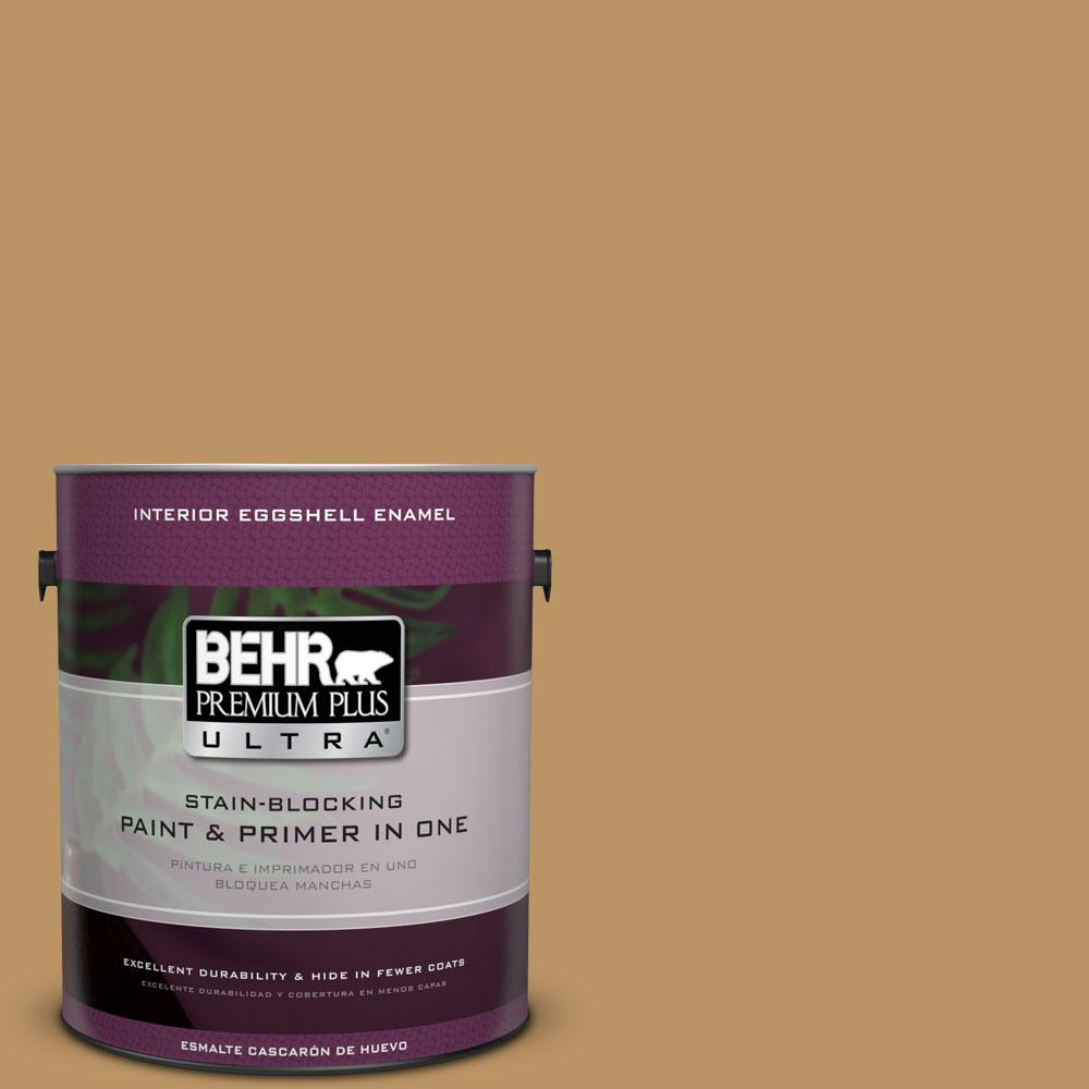 BEHR Premium Plus Ultra 1-gal. #S300-5 Spiced Mustard Eggshell Enamel Interior Paint
