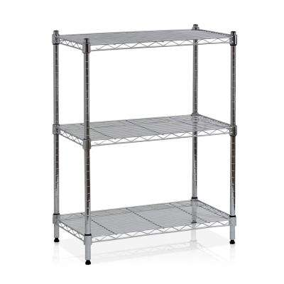 Wayar 3-Shelf 24 in. W x 30.5 in. H Steel Wire Shelving in Chrome