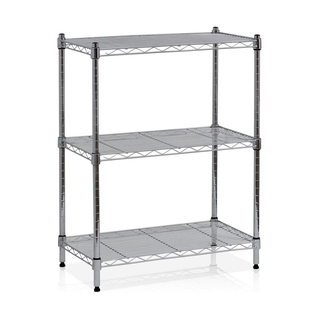 Wayar 3-Shelf 24 in. W x 30.5 in. H Steel Wire