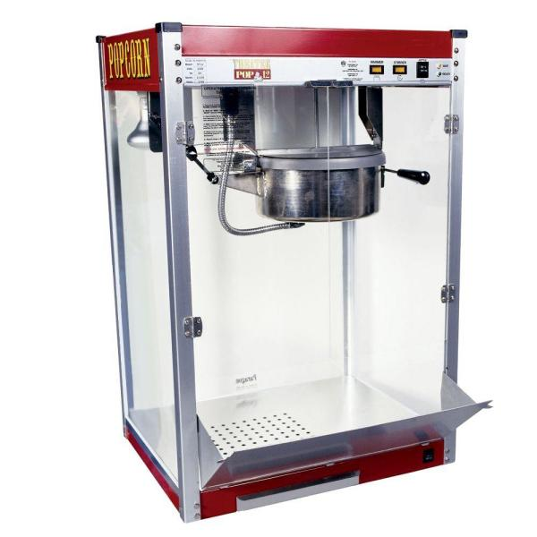 Paragon Theater Pop 12 oz. Red Stainless Steel Countertop Popcorn Machine
