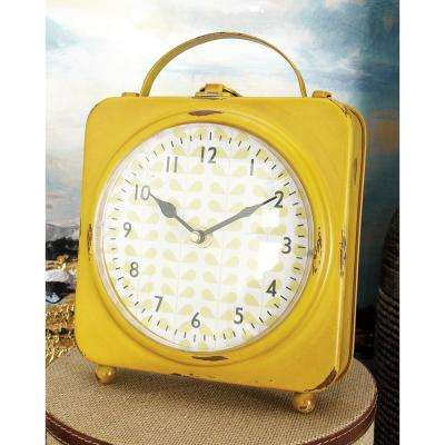 10 in. x 8 in. Multi Square Case with Handle Table Clocks (Set of 4)