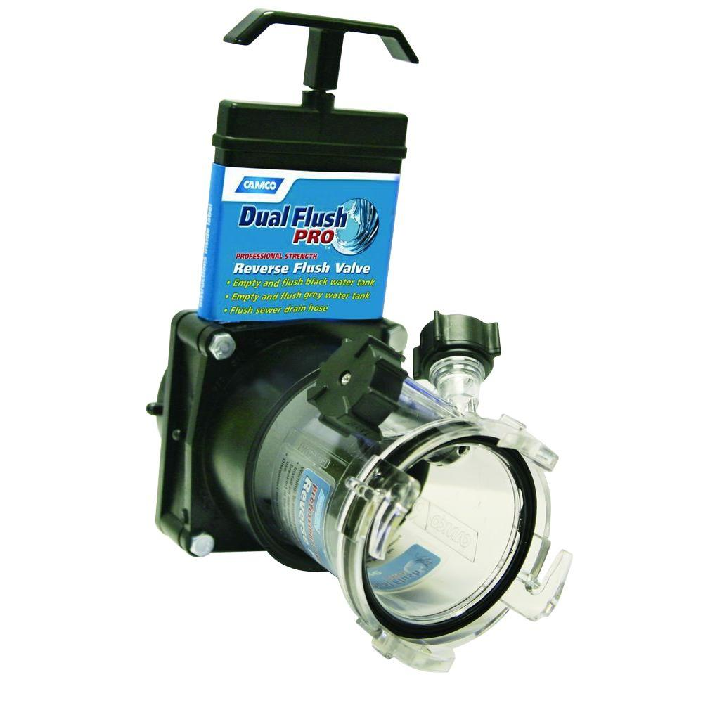 Camco Dual Flush Pro With Gate Valve 39062 The Home Depot