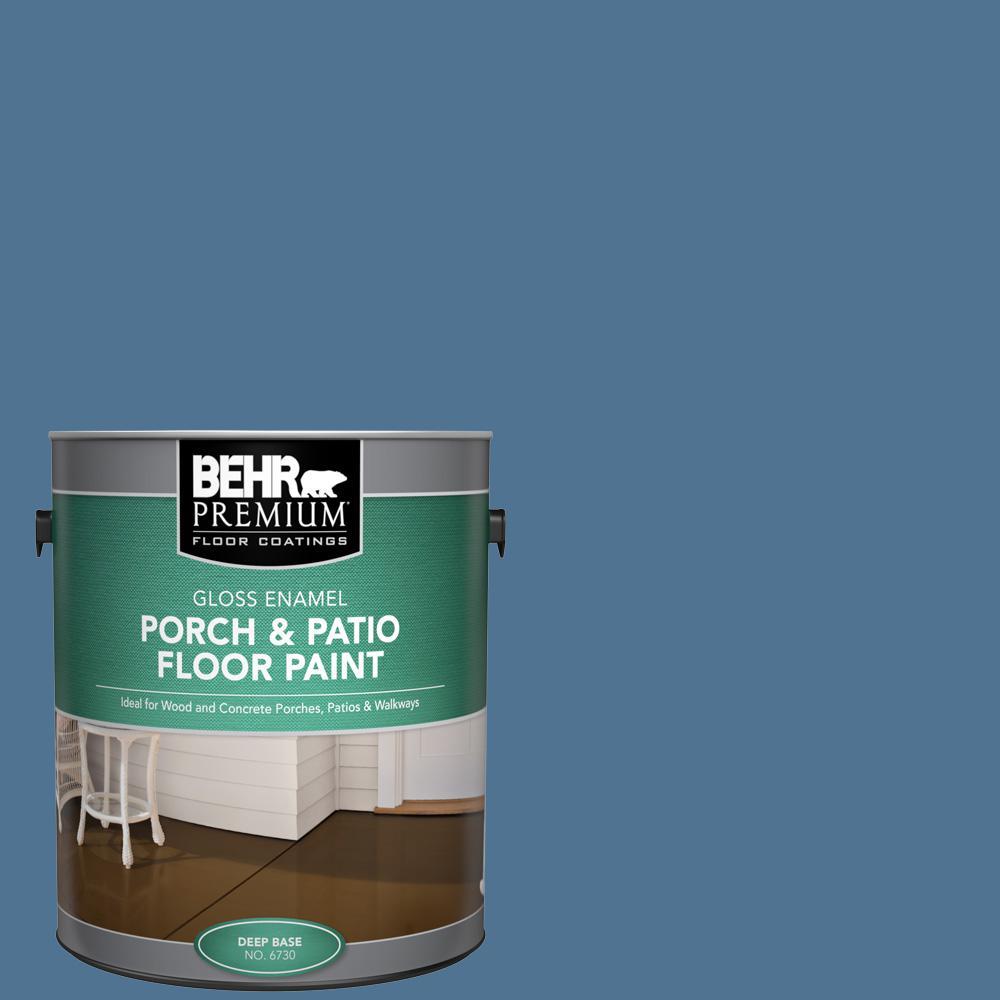 1 gal. #PPU14-18 Laguna Blue Gloss Enamel Interior/Exterior Porch and Patio Floor Paint