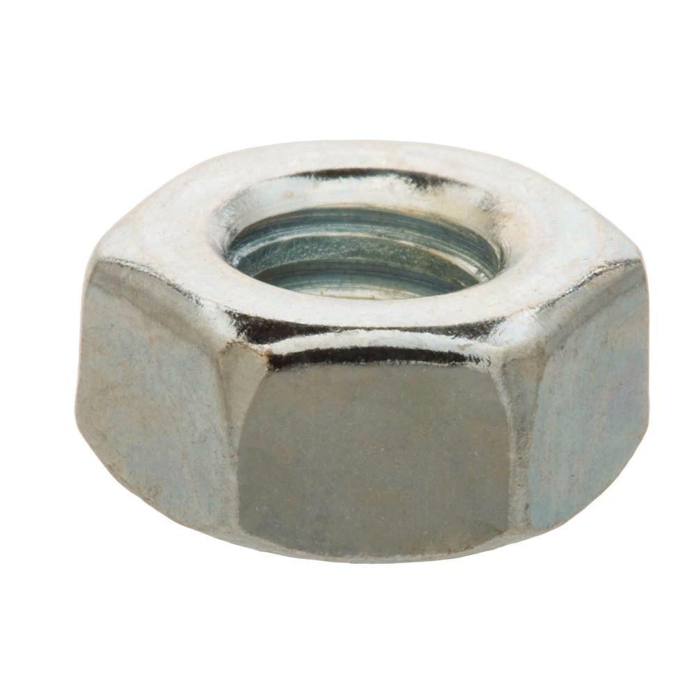 Everbilt 1/4 in.-20 Zinc-Plated Hex Nut (25-Pack)