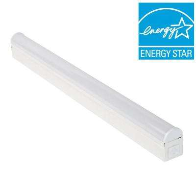 2 ft. Bright/Cool White LED Linkable Strip Ceiling Light Fixture with Plug In or Direct Wire Power Connection