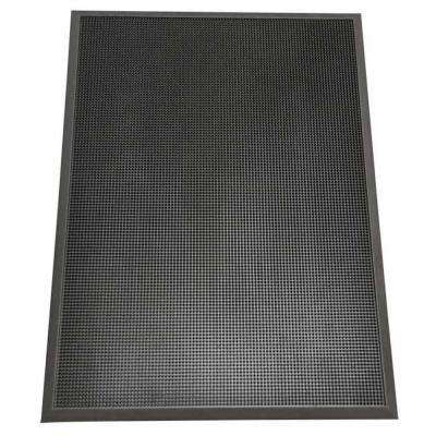 Door Scraper Black 24 in. x 32 in. Recycled Rubber Commercial Mat