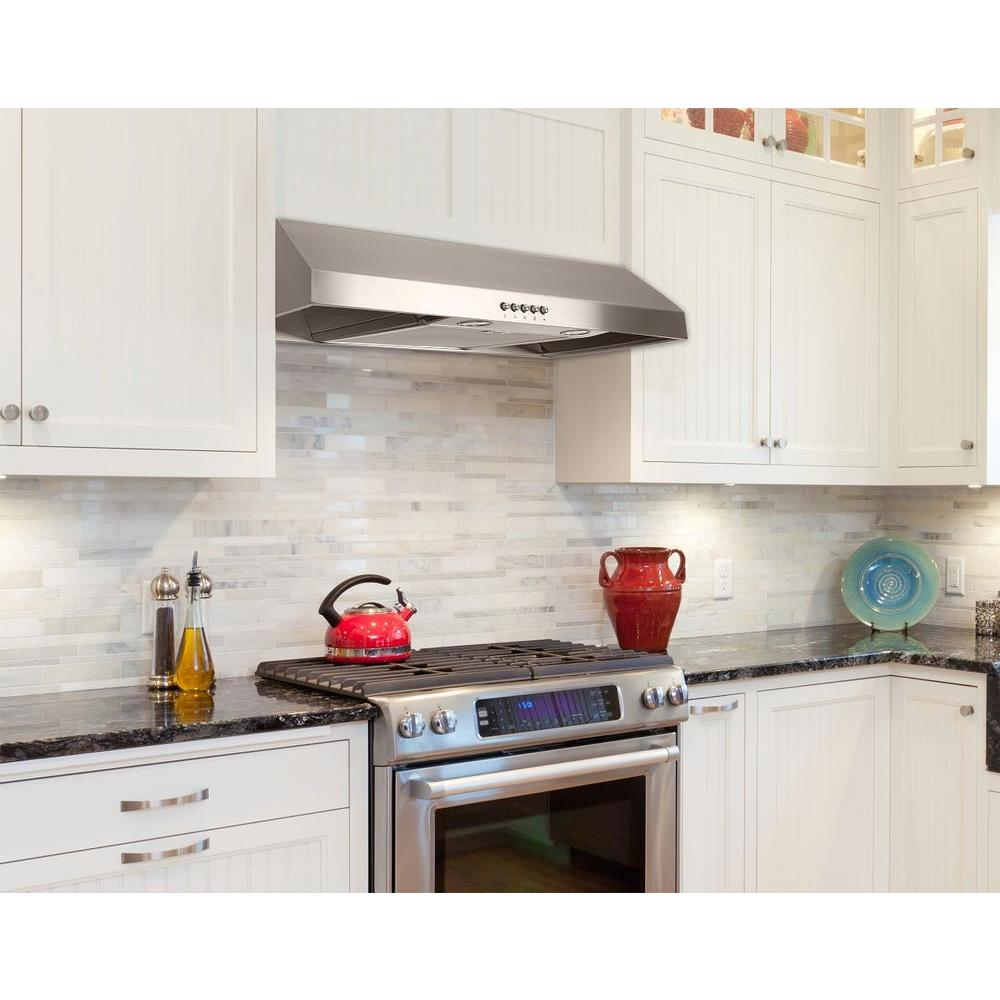Presenza 30 in. Under Cabinet Range Hood in Stainless Steel with LED Light