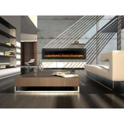 Allure 100 in. Wall-Mount Electric Fireplace in Black