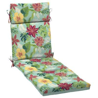 Elea Tropical Reversible Outdoor Chaise Lounge Cushion