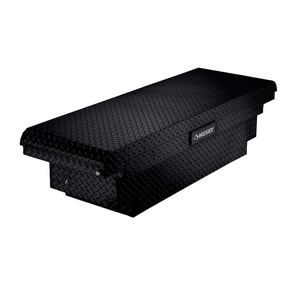 Husky 61.86 Matte Black Aluminum Low Profile Crossbed Truck Tool Box