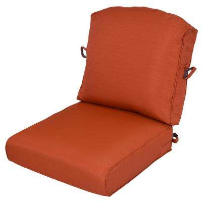 Perfect Quarry Red 2 Piece Deep Seating Outdoor Lounge Chair Cushion
