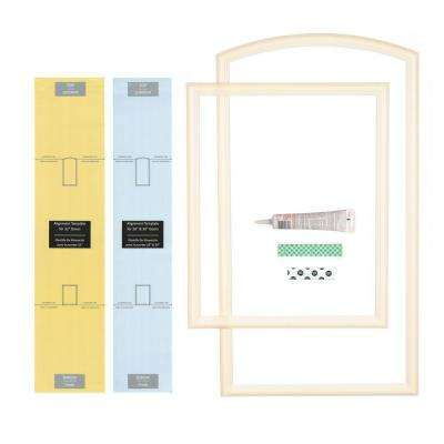 28 in., 30 in. and 32 in. Width Interior Door Self-Adhering Decorative Frame Kit