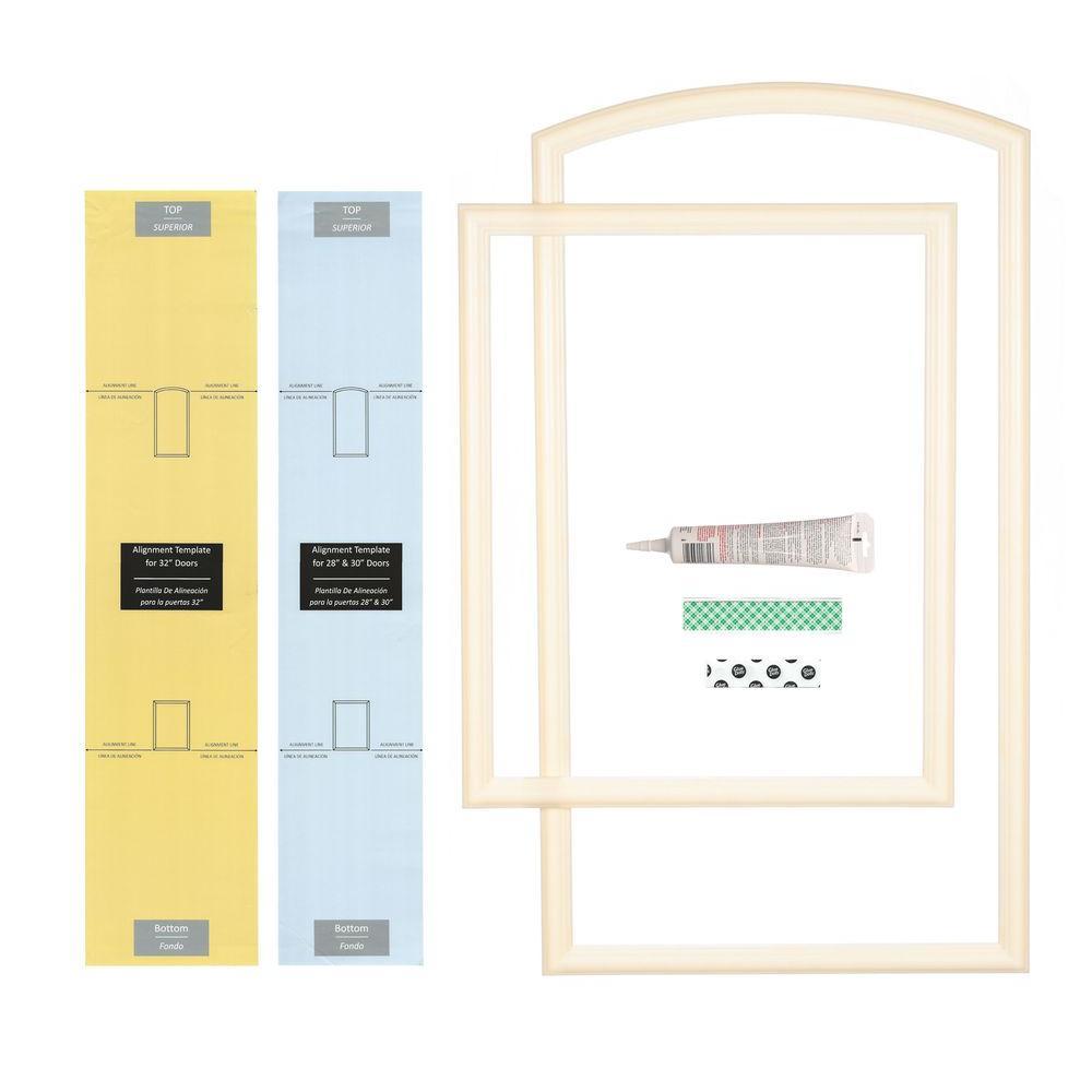 28 in., 30 in. and 32 in. Width Interior Door Self-Adhering Decorative Frame Kit