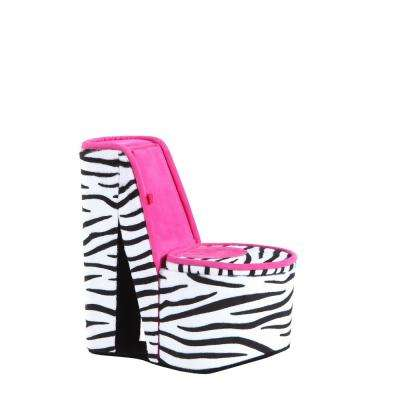 9 in. High Heel Shoe Zebra Print Hidden Jewelry Box