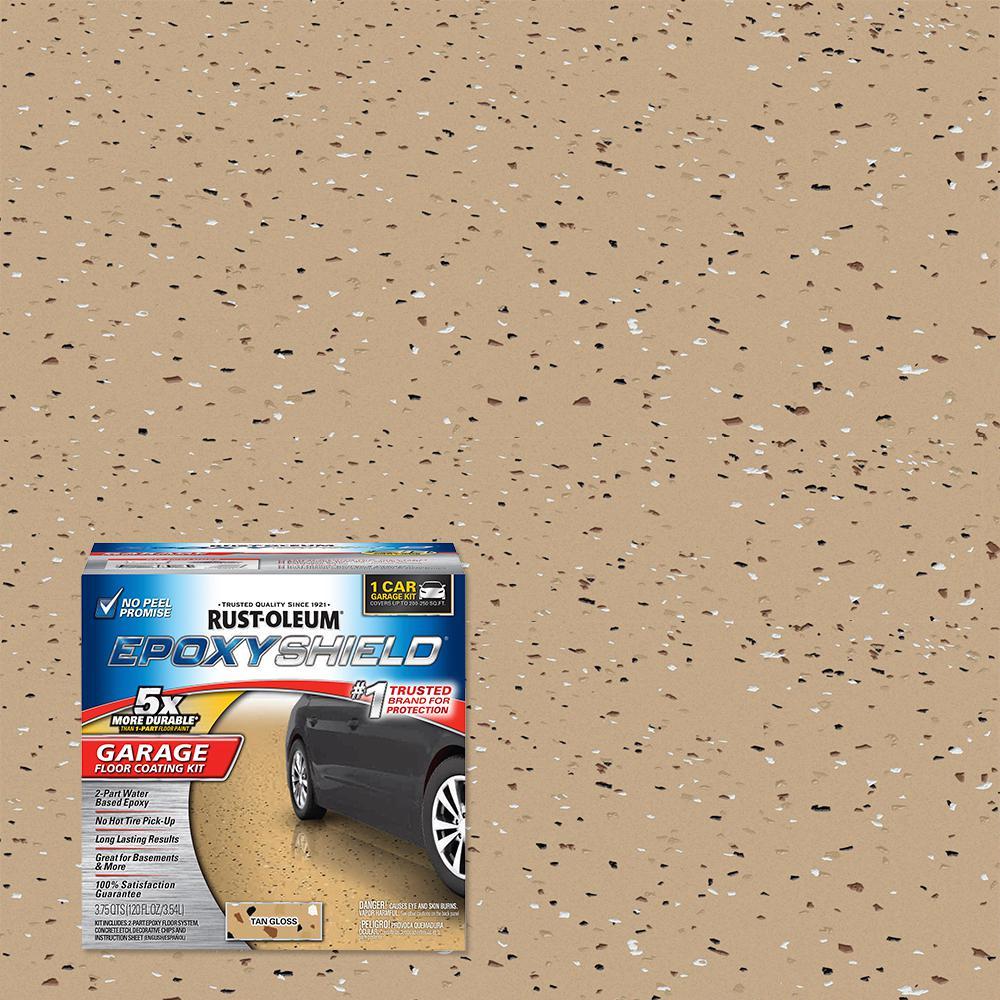 Rust-Oleum EpoxyShield 1 Gal. Tan Garage Floor Epoxy (2-Pack)