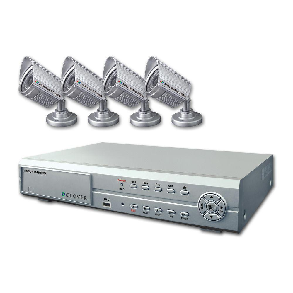 Clover 4-Channel DVR Bundle With Night Vision Outdoor Cameras-DISCONTINUED