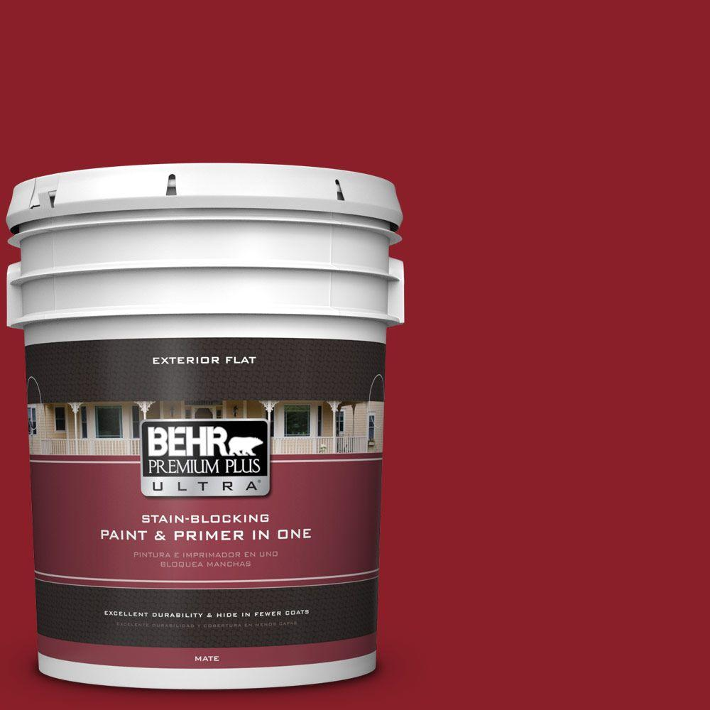5-gal. #ECC-32-3 Cherry Tree Flat Exterior Paint