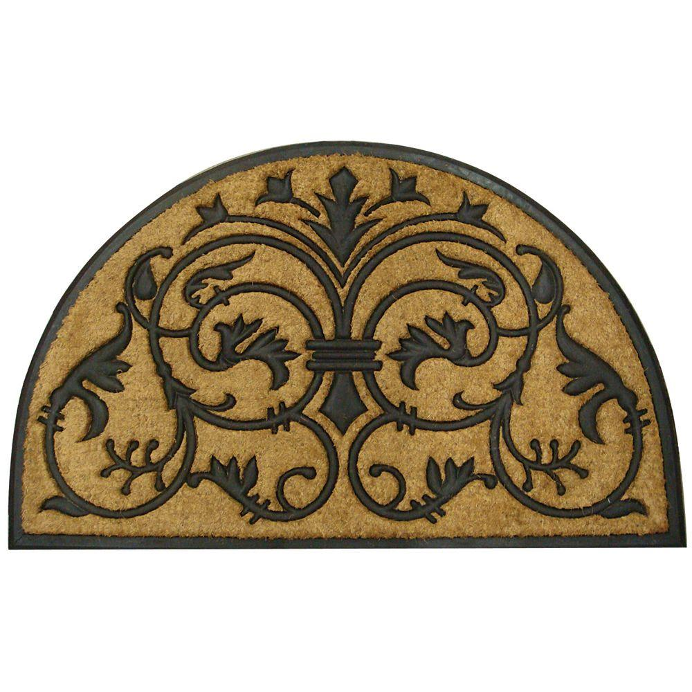 Entryways Monarch 18 in. x 30 in. Recycled Rubber and Coir Door Mat-DISCONTINUED