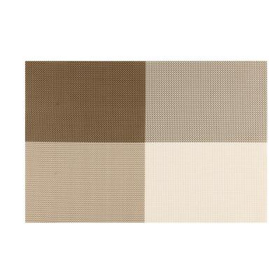 EveryTable 4-Corners Coffee and Cream Placemat (Set of 12)