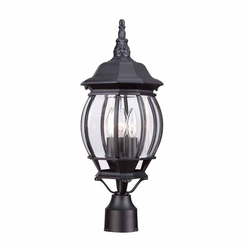 Hampton bay 3 light black outdoor lamp hb7029 05 the home depot hampton bay 3 light black outdoor lamp workwithnaturefo