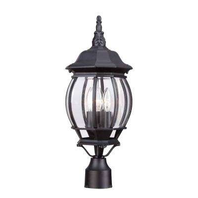 3-Light Black Outdoor Lamp