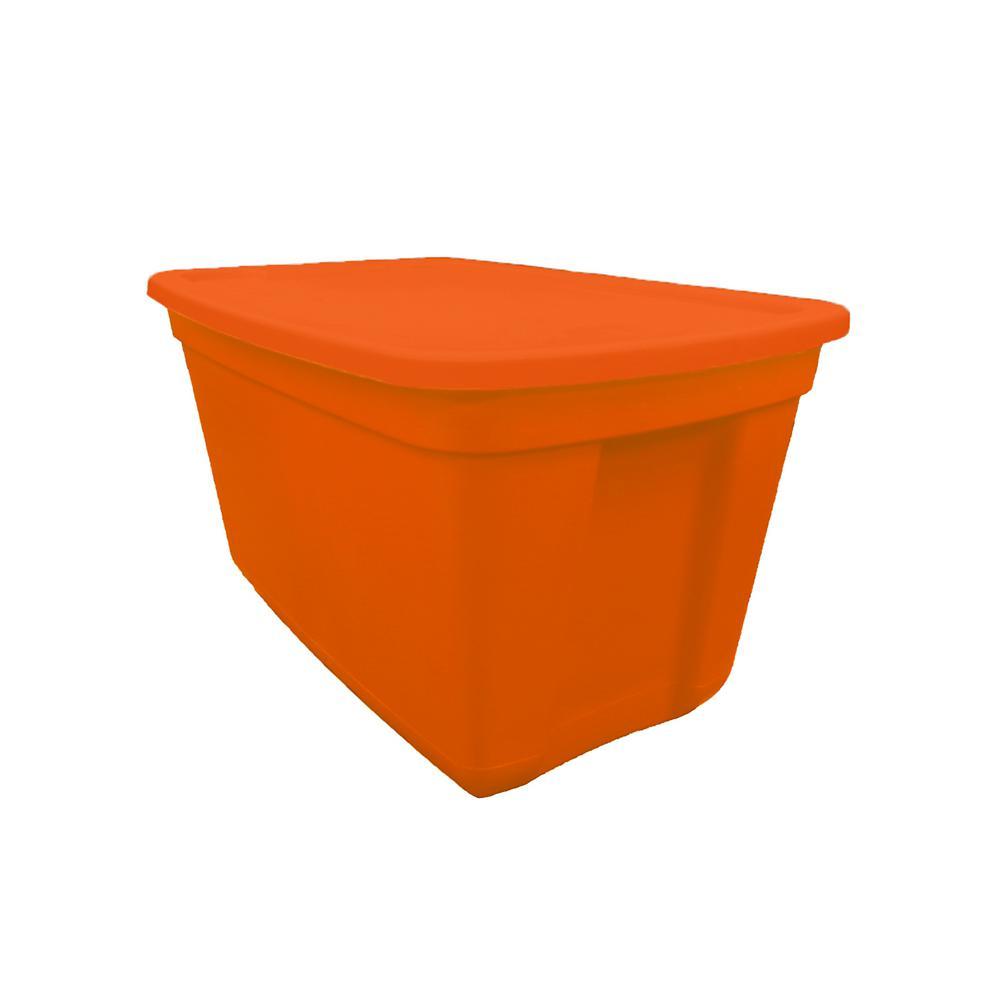 Superior Storage Tote Orange Deep 2020 11608   The Home Depot