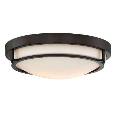 2-Light Oil Rubbed Bronze Flush Mount