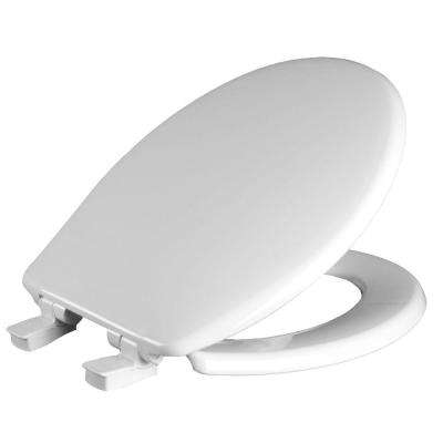 church brand toilet seat. Whisper Close Round Closed Front Toilet Seat In White Church  Toilets Seats Bidets Bath The Home Depot