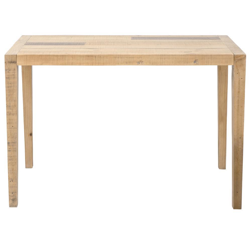 Ashford 47 in. Brown Rectangular Reclaimed Wood Home Office Desk