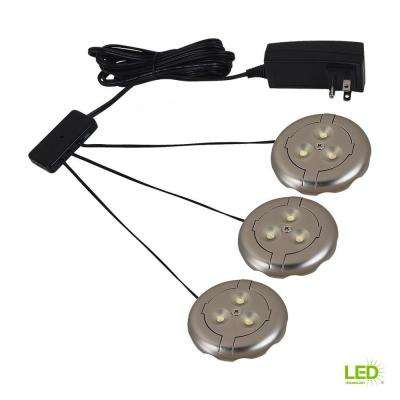 Ambiance LX LED Silver Puck Light Kit