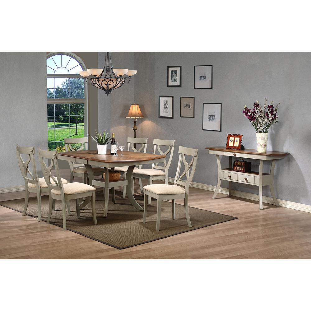 baxton studio balmoral 8 piece beige fabric and distressed gray wood dining set 6588 6590 hd. Black Bedroom Furniture Sets. Home Design Ideas