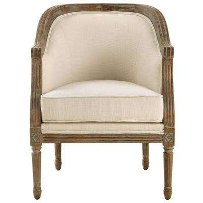La Petite Barrel Natural Upholstered Arm Chair