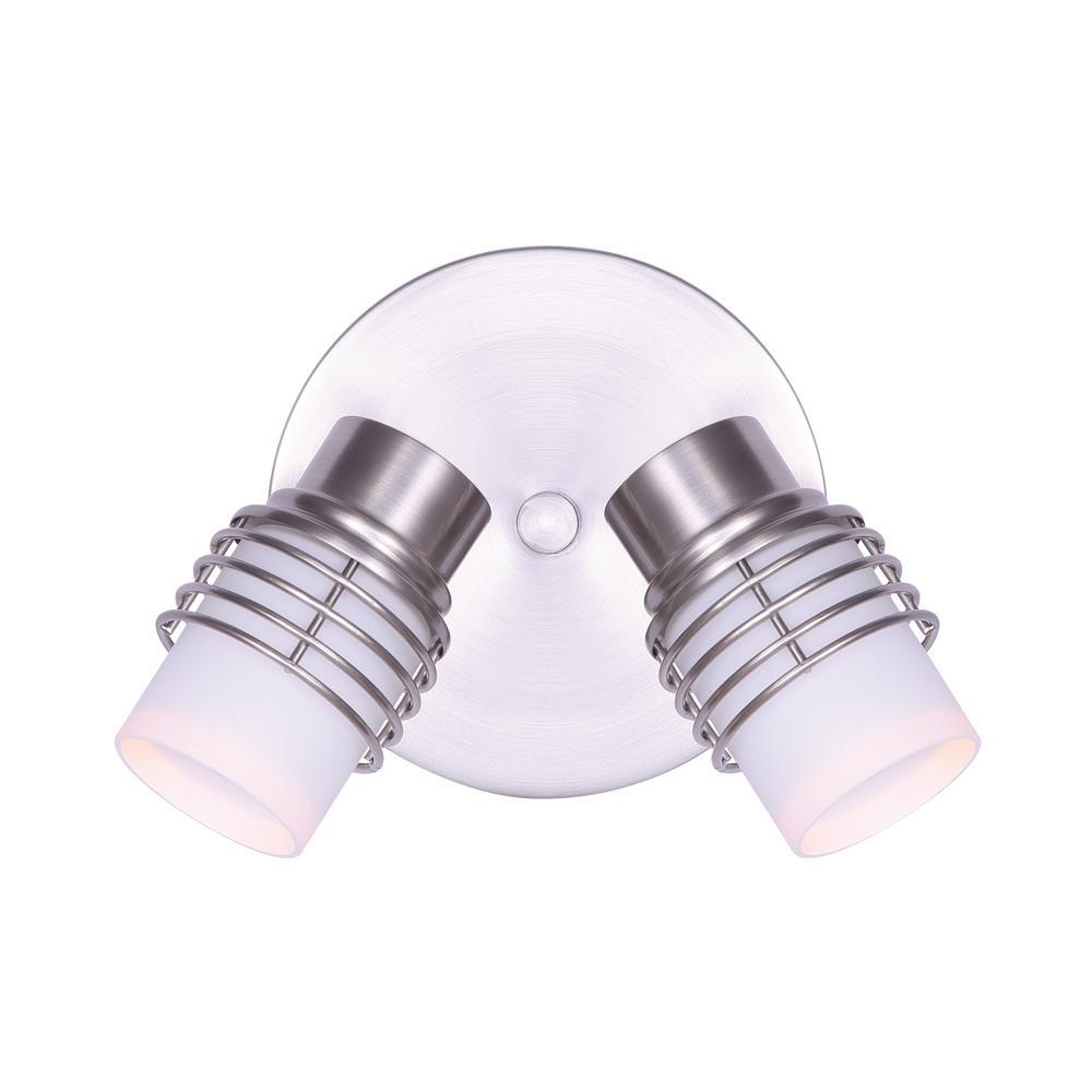 Ashby 10 in. 2-Light Brushed Nickel Track Lighting Kit