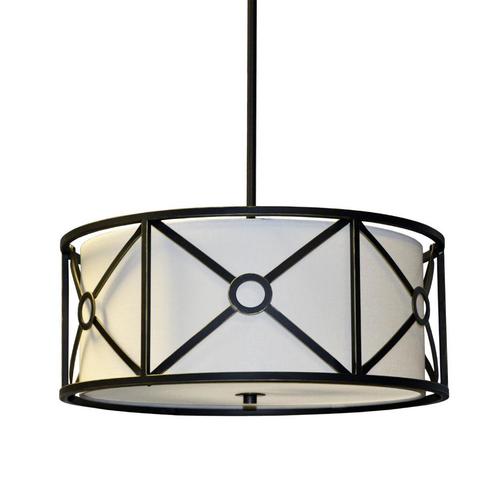 Filament Design 3-Light Vintage Oiled Bronze Pendant