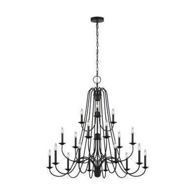 Boughton 18-Light Antique Forged Iron Chandelier