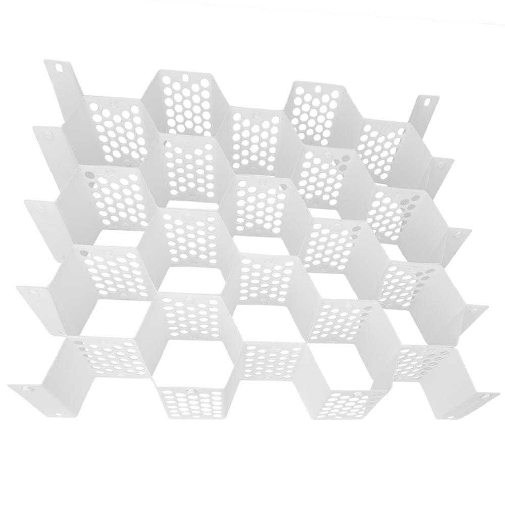 Green Mountain Products Evelots Honeycomb Drawer Organizer, White