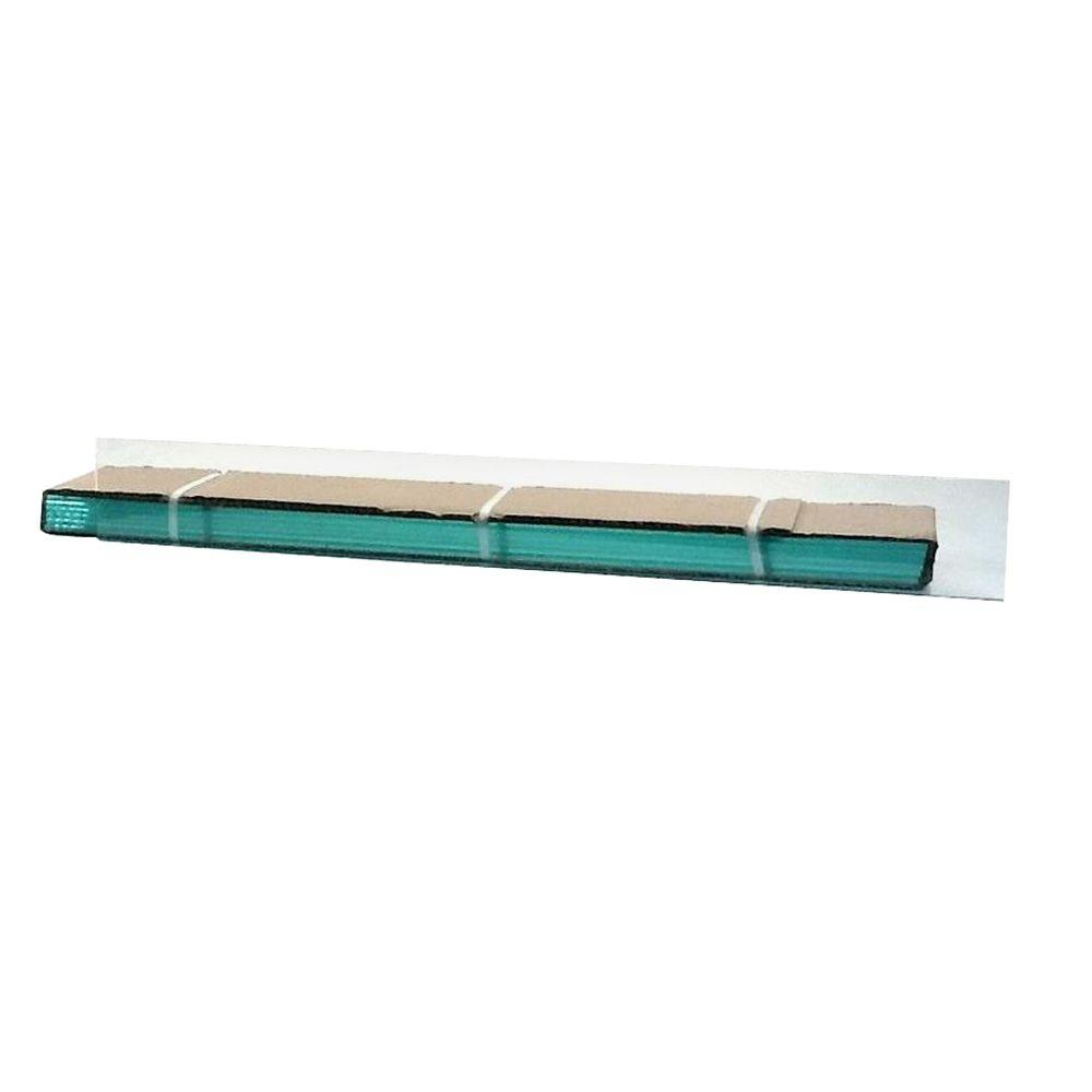29.25 in. x 4 in. Jalousie Slats of Glass with Clear