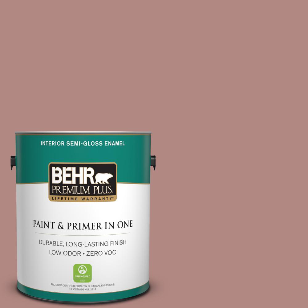 1-gal. #190F-4 Warm Comfort Zero VOC Semi-Gloss Enamel Interior Paint