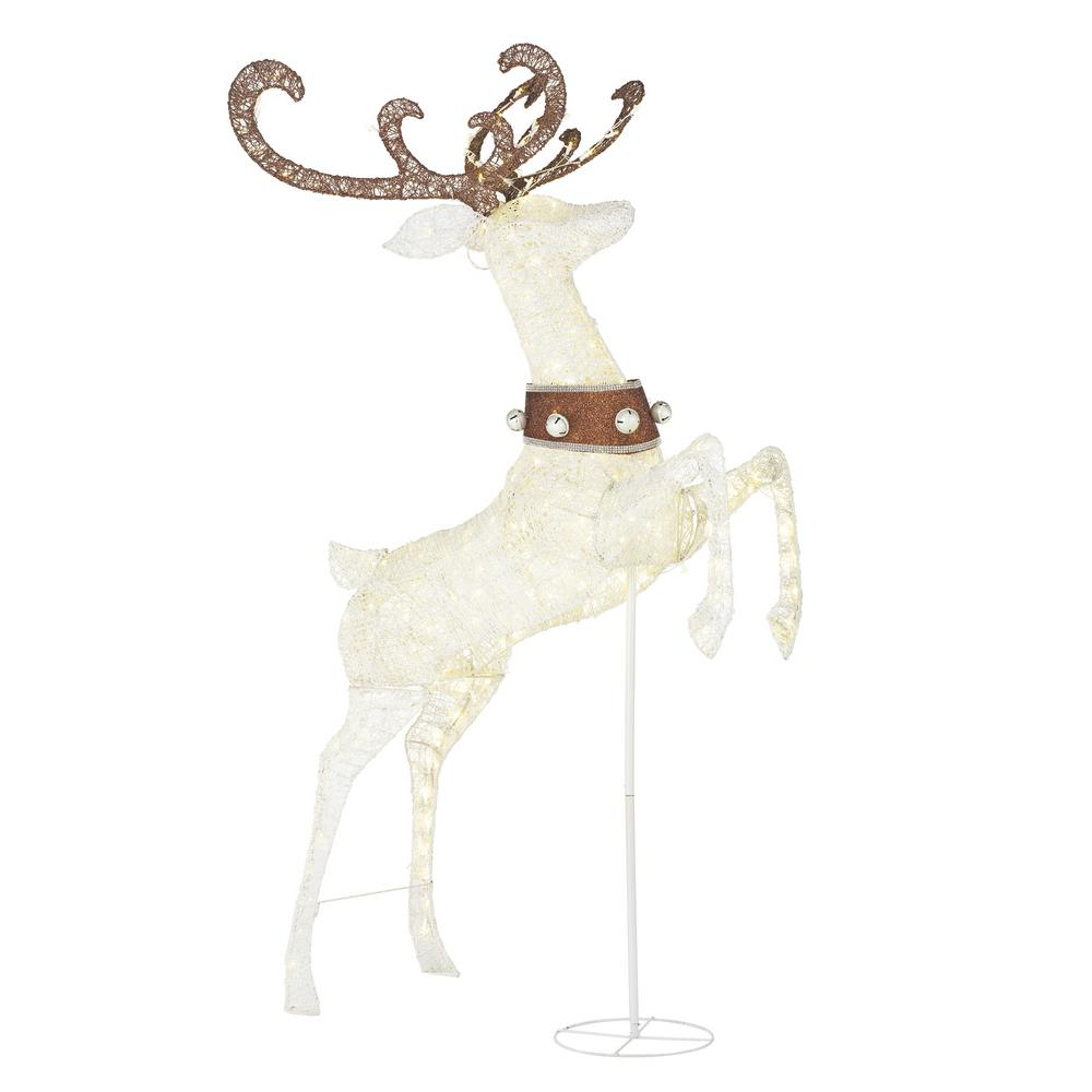 84 in. Christmas Warm White LED Jumping Deer