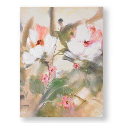 """31 in. x 24 in. """"Tropic Blooms"""" Printed Canvas Wall Art"""