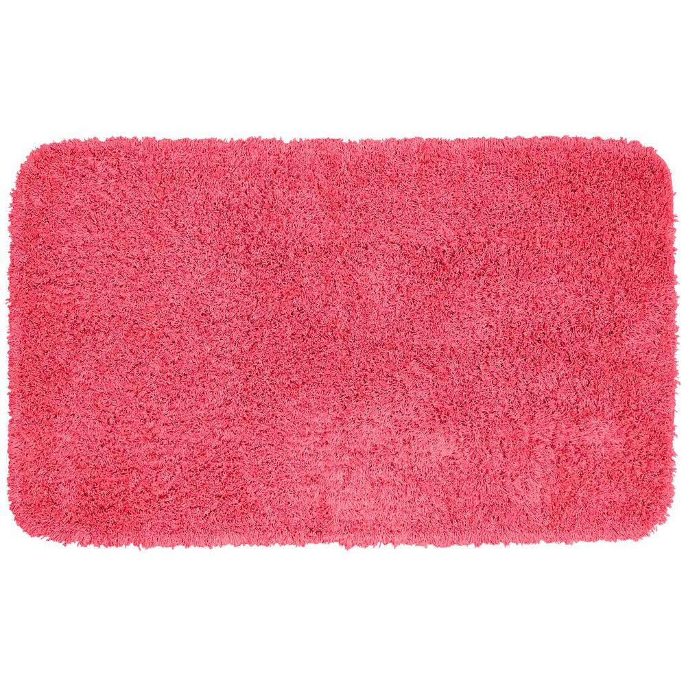 Washable Rugs Pink: Garland Rug Jazz Pink 30 In. X 50 In. Washable Bathroom