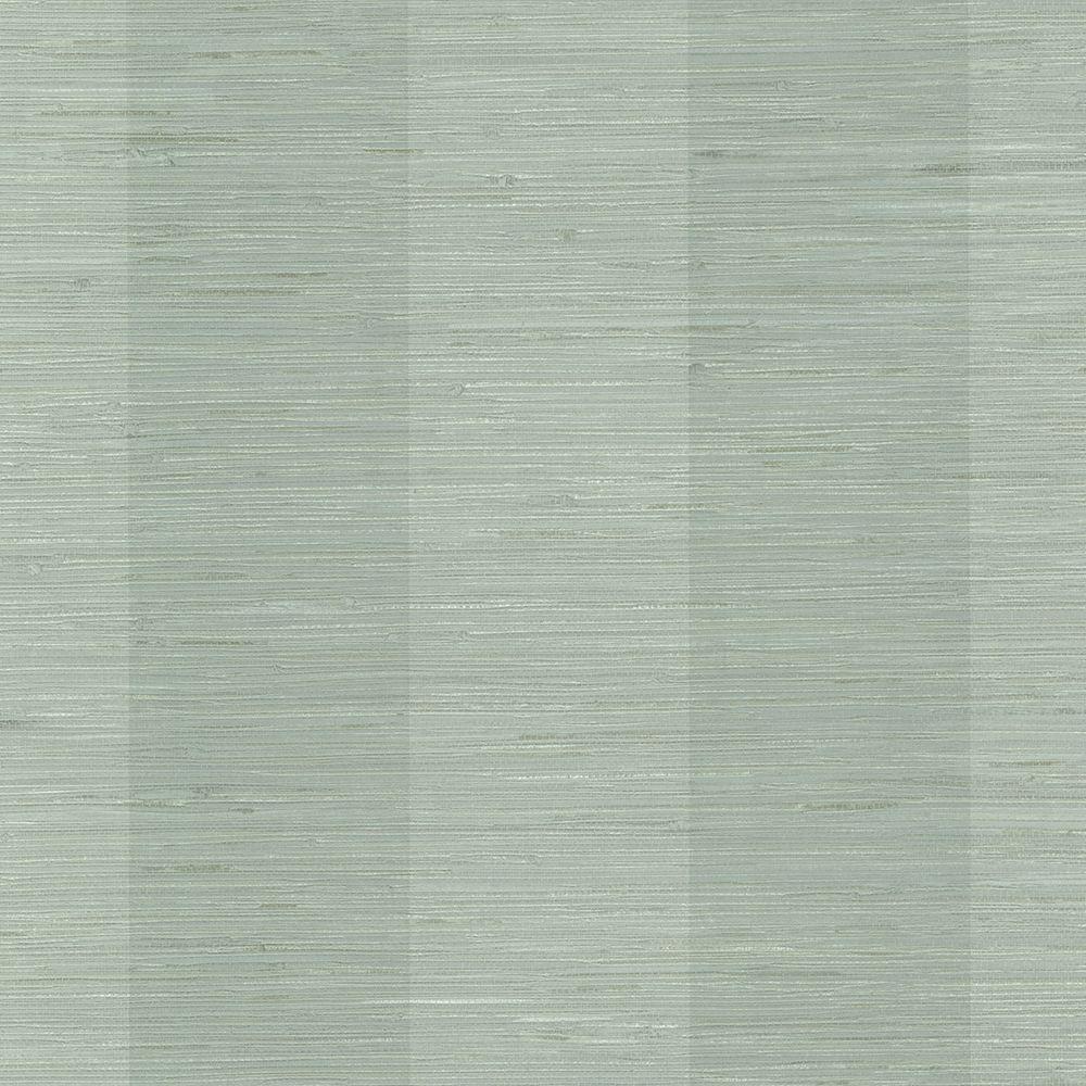 Grasscloth Wallpaper Samples: Kenneth James Thanos Teal Grasscloth Wallpaper Sample-2622