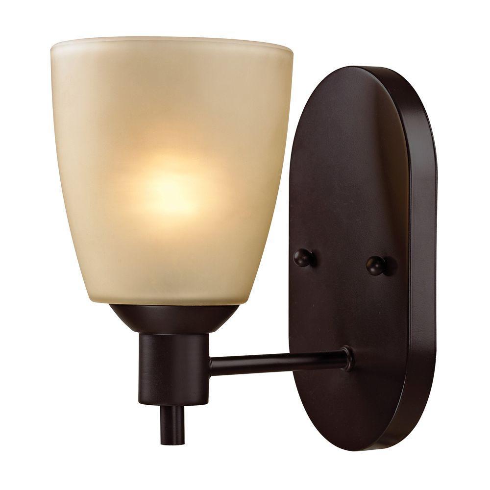Titan Lighting Jackson 1-Light Oil-Rubbed Bronze Wall Mount Bath Bar Light