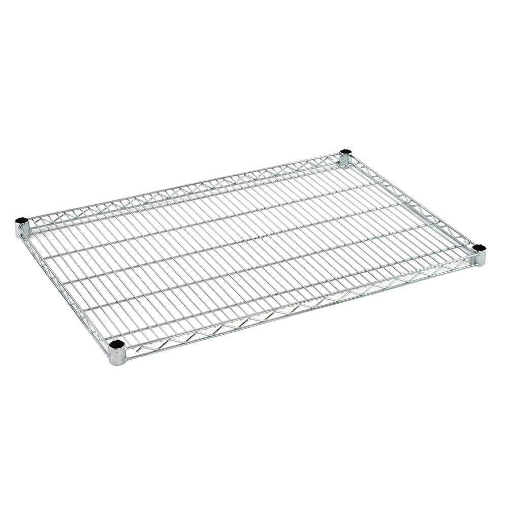 2 in. H x 36 in. W x 24 in. D Heavy Duty Chrome Wire Shelf