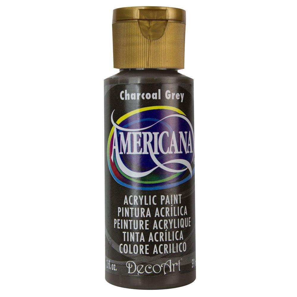 Americana 2 oz. Charcoal Grey Acrylic Paint
