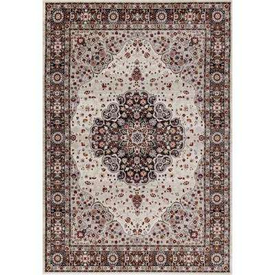 Dorsey Hall Floral Traditional Brown 5 ft. 3 in. x 7 ft. 3 in. Indoor Area Rug
