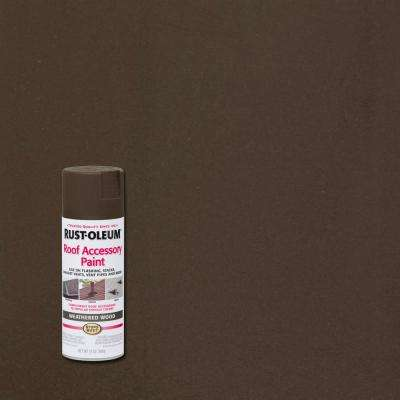 12 oz. Weathered Wood Roof Accessory Spray Paint (6-Pack)