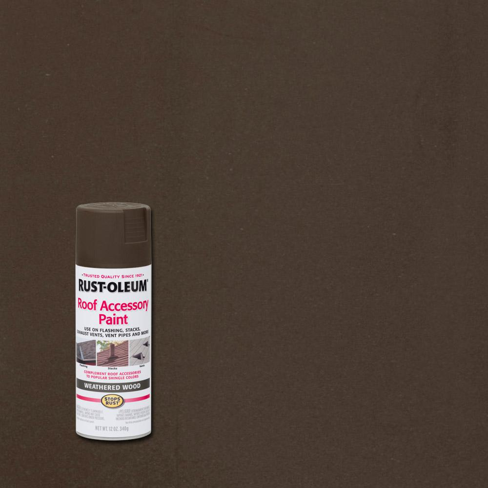 Rust Oleum Stops Rust 12 Oz Weathered Wood Roof Accessory