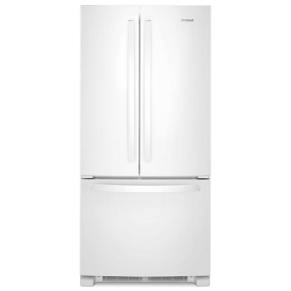 Whirlpool 33 In W 22 Cu Ft French Door Refrigerator In