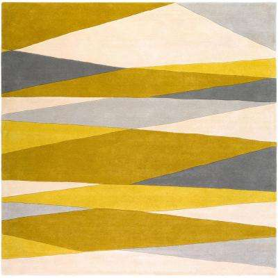 Iltheos Olive 8 ft. Indoor Square Area Rug